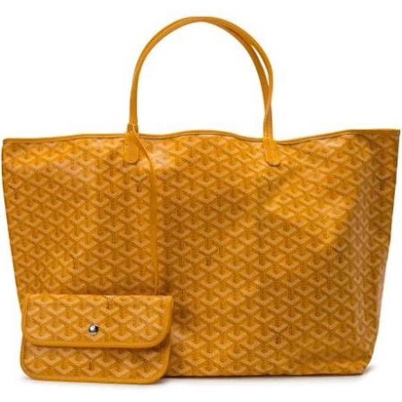 Goyardine St. Louis PM Canvas Tote handbag Yellow
